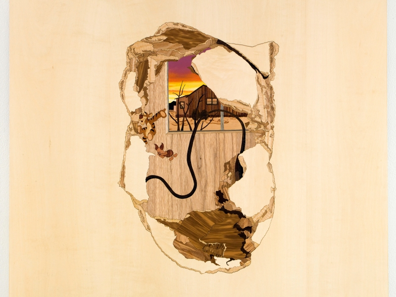 Nursery, 2010, marquetry hybrid, 30 x 30 inches